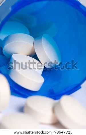 Pill Bottle, concept for Healthcare And Medicine