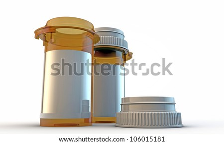pill bottle isolated on white background