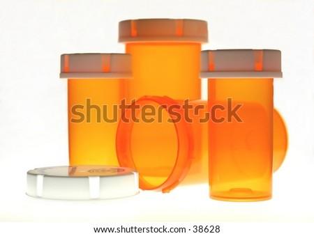 pill bottles.