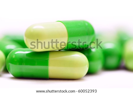 pill isolated on white