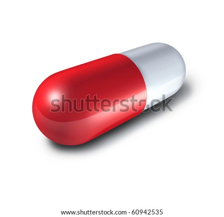 pill single isolated on white