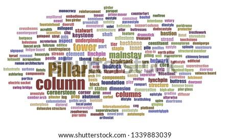 Pillar Wordcloud Neatly Isolated