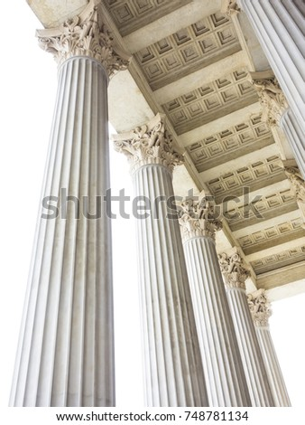 Stock Photo pillars at the parliament in vienna