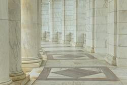 Pillars in a Hallway