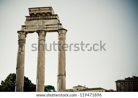 Pillars in the Roman Forum, Rome, Italy