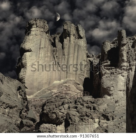 Pillars of the king of Solomon, Timna park, Israel