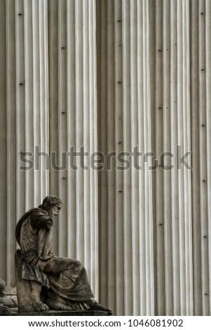 Pillars of the Móra Ferenc Múzeum in Hungary, Szeged Stock fotó ©