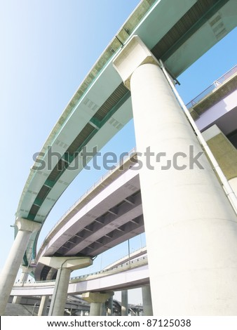 Pillars of viaduct