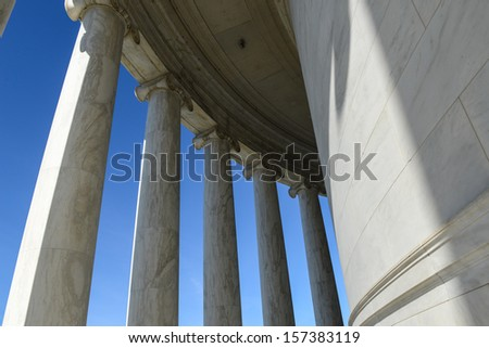 Pillars on the Jefferson Memorial