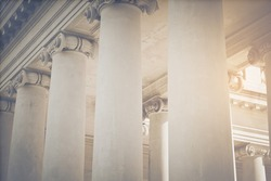 Pillars to a Courthouse with Vintage Style Filter
