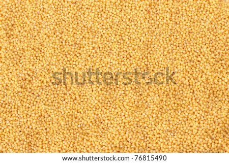 Pilled millet seeds as texture