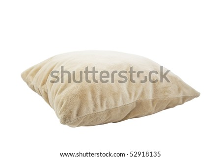 Pillow isolated on white with clipping path