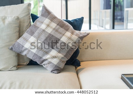 Pillow on sofa decoration interior in living room #448052512