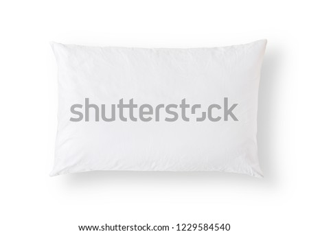 Pillow on white background isolated with clipping path for bedding mockup design template