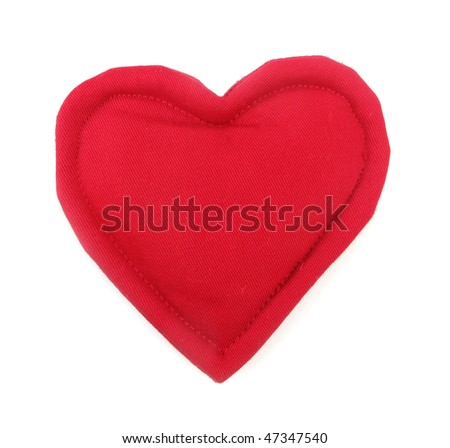 Pillow red heart shaped home decoration