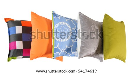 Pillows. Isolated. - stock photo