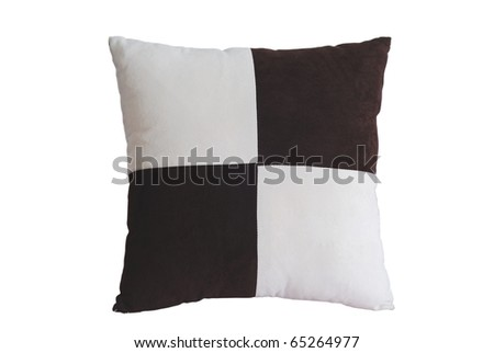 Pillows isolated on white background