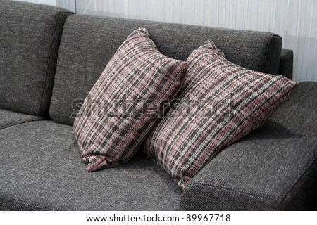 Pillows on the furniture. Cushions on the living room furniture.