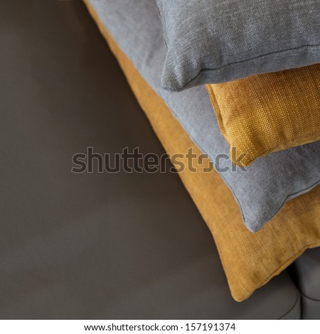 pillows on the leather #157191374