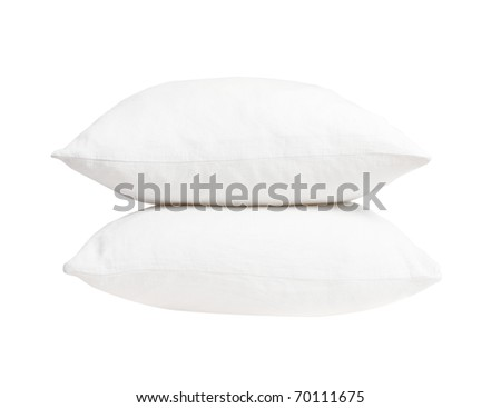 Pillows on white background