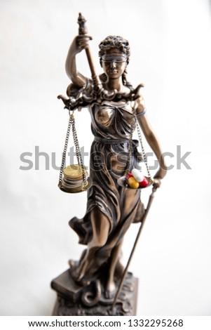 Themis, mythological Greek goddess,… Stock Photo 74744272