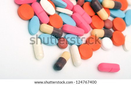 pills as a background
