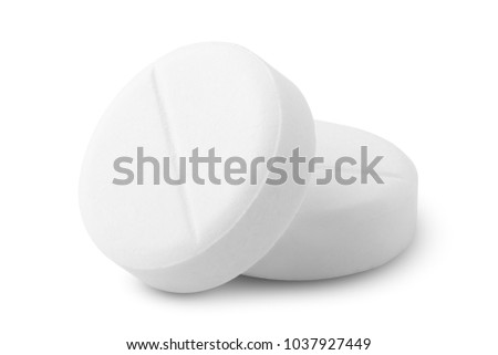 pills background, tablets on a white background