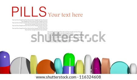Pills in a row