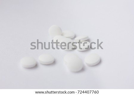 pills on white background #724407760