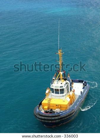 Pilot boat at work...