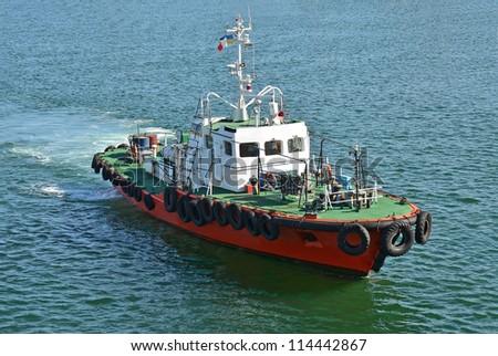 Pilot ship in Black sea, Odessa, Ukraine