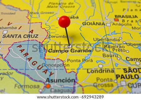Shutterstock Pin in Campo Grande, capital of Mato Grosso, Brazil