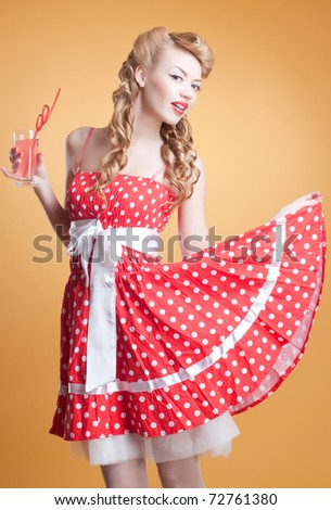 Pin Up girl - stock photo