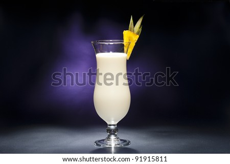 Pina Colada in front of beautiful background