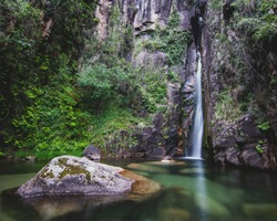 Pincães waterfall at Gerês National Park