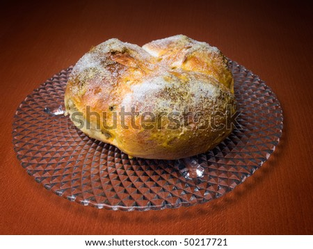 Pinca is a traditional Croatian or Dalmatian Easter Bread which is given to guests as a symbol of good wishes.