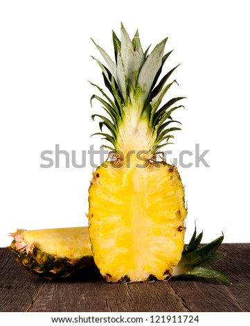 Pine-apple on wooden table