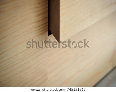 pine wood furniture detail #745151365