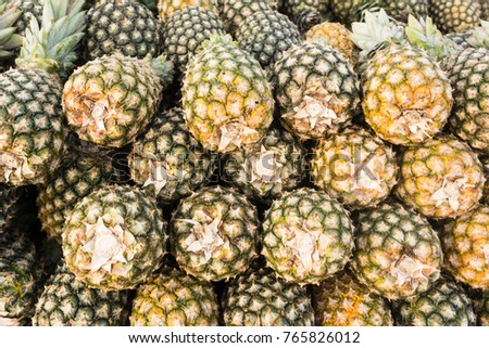 Shutterstock Pineapple displayed in heap, for sale in famous Ver-o-Peso public market in Belem do Para, Brazil. Fruit background