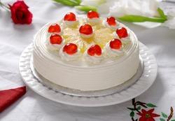 Pineapple & Fresh Cream Cake
