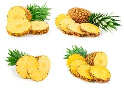 pineapple fruit isolated on white pineapple
