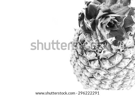 Pineapple isolated black and white #296222291