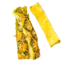 Pineapple peel  isolated on white background. Pineapple fruit  trash