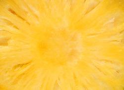 Pineapple slice close up image (background)