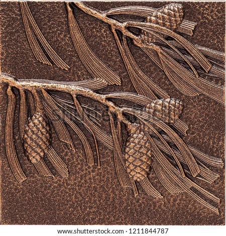Pinecone Wall Decor or leaf Sculptures