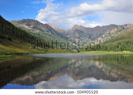 Piney lake, Vail, Colorado