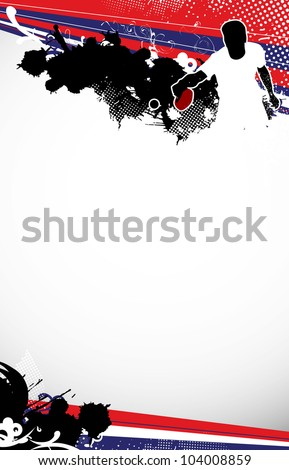 Ping pong background with space (poster, web, leaflet, magazine) - stock photo