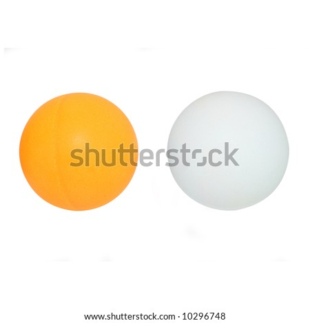 Ping pong balls with clipping path