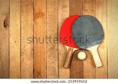 Table Tennis Ball And Net For Playing Ping Pong Sport Concept