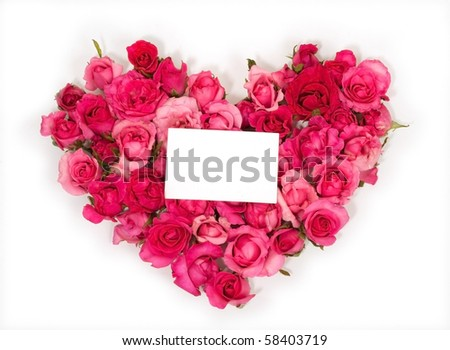ping Rose Petals with Note Card
